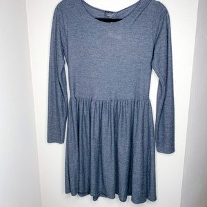 Topshop Fit n Flare Long Sleeve Baby Doll Dress